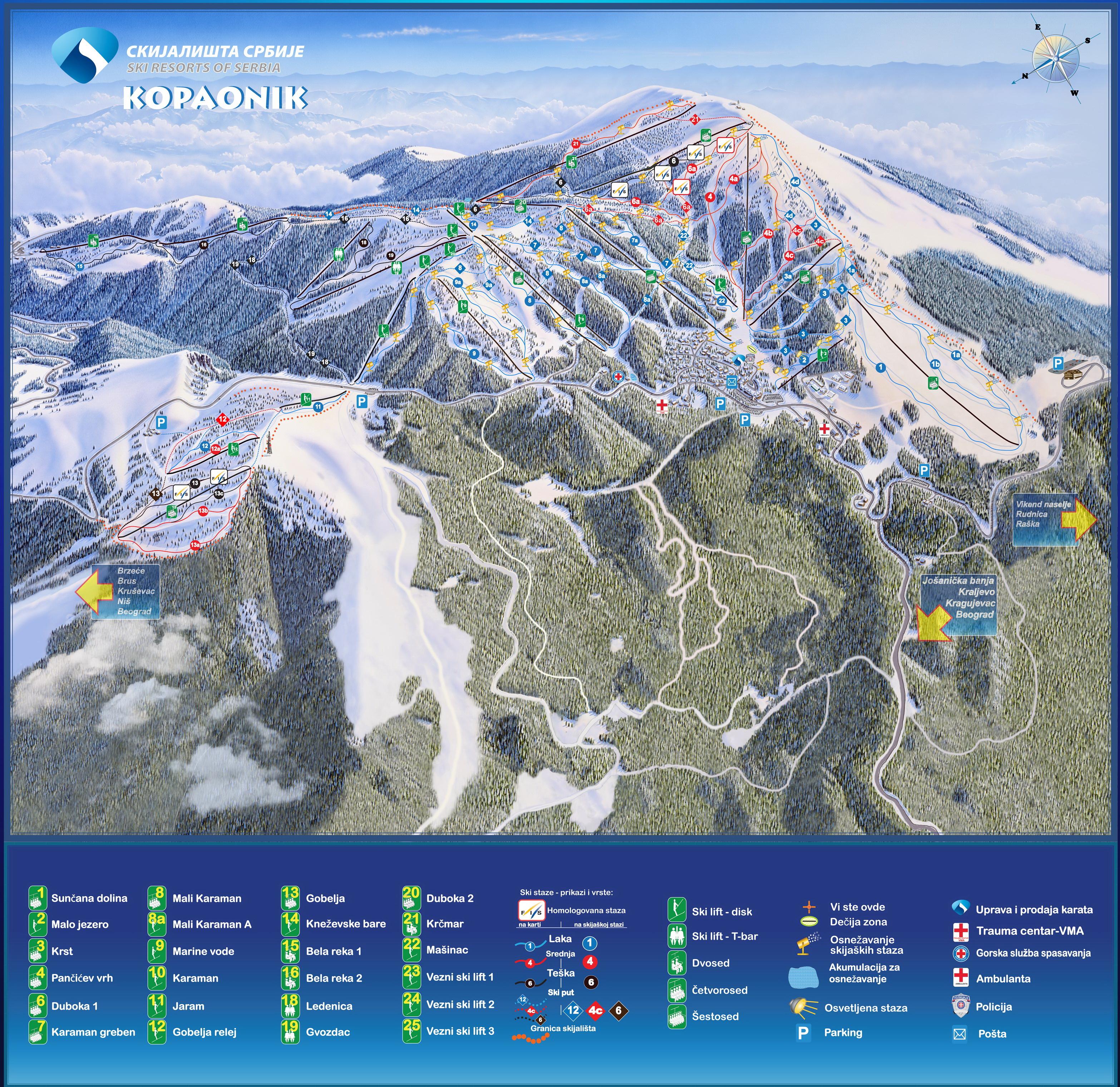 Kopaonik Infokop Nova Ski Mapa Kopaonika 2010 11
