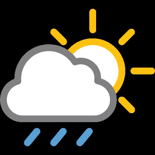 Promenljivo oblačno sa kišom